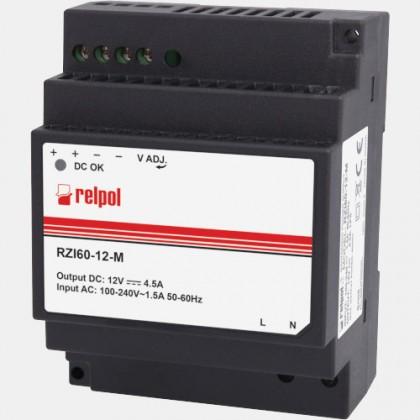 Zasilacz impulsowy RZI60-12-M Relpol 60W 230VAC 12VDC